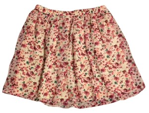 Abercrombie & Fitch Mini Skirt Pink floral