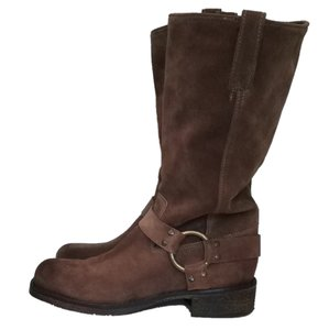 Latitude Brown Suede Distressed Boots