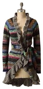 Anthropologie Moth Striped Cardigan Sweater