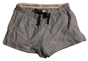 Abercrombie & Fitch Mini/Short Shorts Striped light blue and white