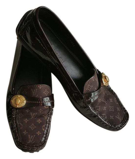 Item - Brown Mini Lin Patent Leather Monogram Loafers 39.5) Formal Shoes Size US 9 Regular (M, B)
