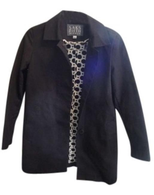 Saks Fifth Avenue Black Lightweight Coat Size 0 (XS) Saks Fifth Avenue Black Lightweight Coat Size 0 (XS) Image 1