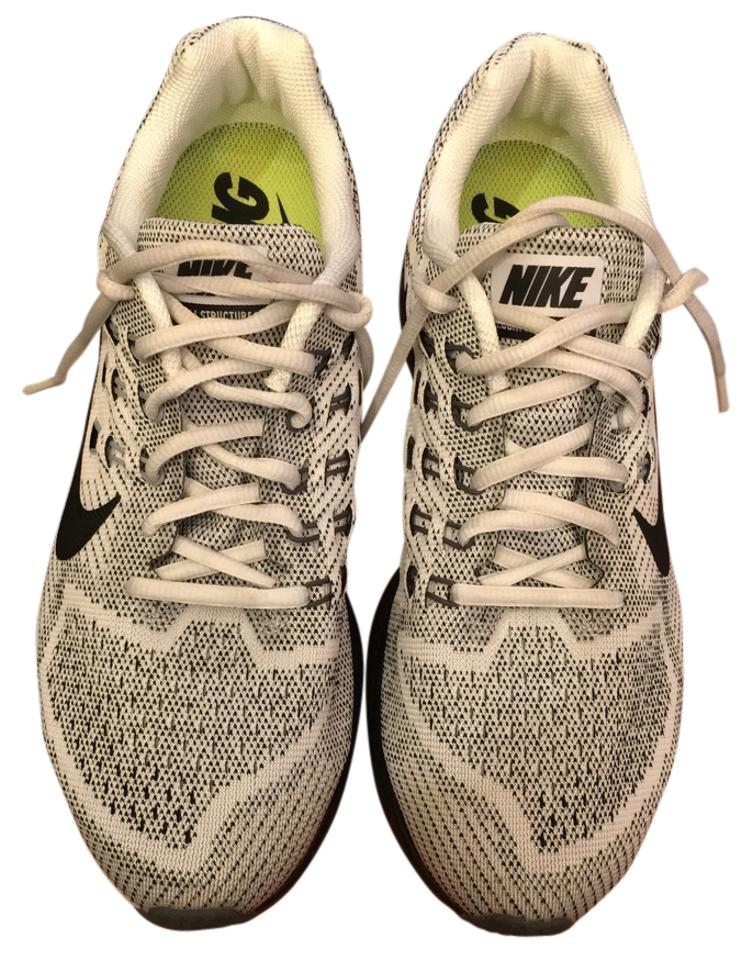 check out f5ffd 5b0bb Nike White/Black Air Zoom Structure 18 Men's Sneakers Size US 8.5 Regular  (M, B)