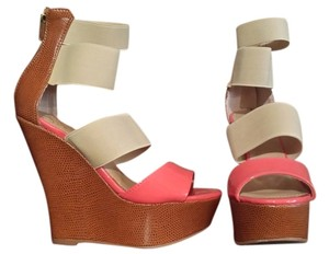 Colin Stuart Coral and Tan Wedges
