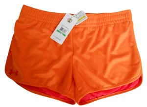 UNDER ARMOUR UNDER ARMOUR NEW $25 Women's UA 1236051 TIDAL FULLY LINED SHORTS HEATGEAR ORANGE LARGE