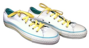 Converse White/Blue/Yellow Athletic
