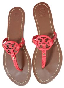 Tory Burch Miller Mini Miller Flip Flops Summer Melon Sandals
