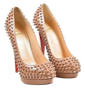 Christian Louboutin Nude Leather Alti 160 Beige Pumps