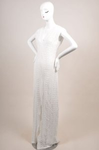 Maxi Dress by Miguelina White Violet Lace