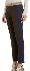 Vince Color-blocking Bold Stripe Stretchy Contrast Bold Straight Pants Olive green, with khaki and blue accents