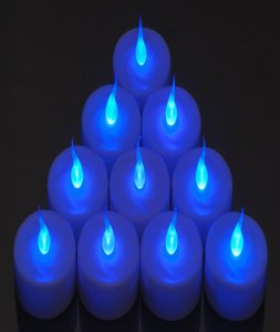 New Lot 48 Tea Led Blue Candle Flicker Lights Flameless Weeding Party Home Table Decorate Decoration Tealights