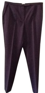 Les Copains Dressy Career Chic Classic Straight Pants Purple