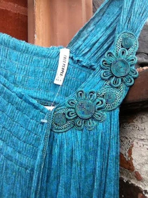 Free People Flower Top Turquoise