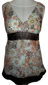 Studio Y Floral Tank Sleevless V-neck Thick Strap Tunic