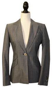 Karen Millen Gray with Light Blue stripes Blazer