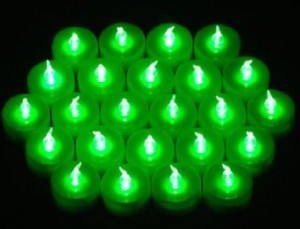 New Lot 96 Tea Led Green Candle Flicker Lights Flameless Weeding Party Home Table Decorate Decoration Tealights