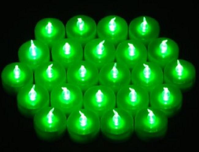 Item - Green New Lot 96 Tea Led Flicker Lights Flameless Party Home Table Decorate Tealights Votive/Candle