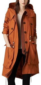 Burberry Brit Brit Single Breasted Trech Trenchcoat Parka Jacket Coat