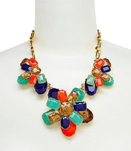 Kate Spade 'Riviera Garden' frontal statement necklace
