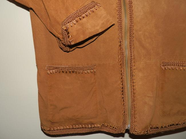 Christopher & Banks Brown Leather Jacket