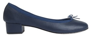 Repetto Camille Designer Ballerina Classic Navy Leather Fashion New Luxury Blue Pumps