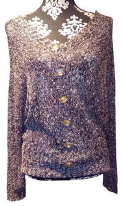 Misshop Grey Sparkle Sequin Sweater