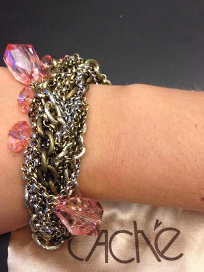 Cache Cache Bracelet - Silver, Gold, and Pink