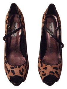 Steve Madden Cheetah/Black Platforms