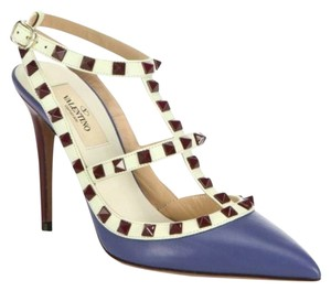 Valentino Rock Rockstud Stud Studded Blue Pumps
