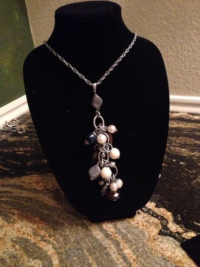 Lia Sophia New Lia Sophia Chunky Pearl Iong And Gemstones Necklace Statement Piece