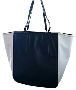 French Connection Tote in black and white