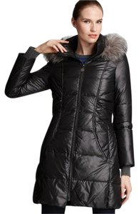 Elie Tahari Down Parka Jacket Fur Coat