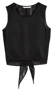 H&M Open Open Crochet Lace Crochet Top Black