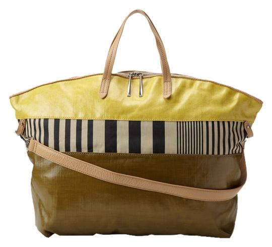 Preload https://img-static.tradesy.com/item/12945997/kelsi-dagger-calloway-mustard-textile-leather-tote-0-1-540-540.jpg