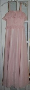 Light Pink Spaghetti Strap Evening Dress Dress