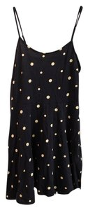 Cotton On short dress Navy Blue Polka Dot on Tradesy
