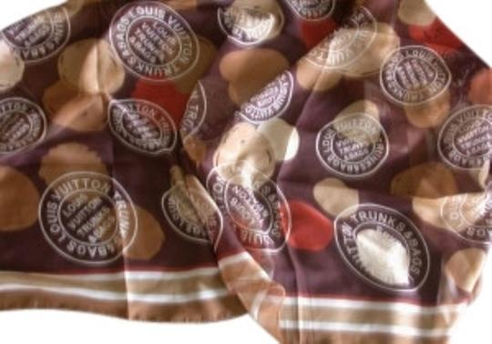 Preload https://item3.tradesy.com/images/louis-vuitton-brown-tan-rust-scarf-paris-made-in-italy-trunks-and-b-12947-0-0.jpg?width=440&height=440