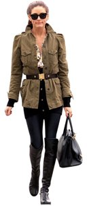 Zara Military Cargo Khaki Puffed Military Jacket