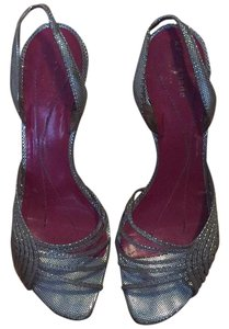 Kate Spade Special Occasion Metallic Sling-backs Kitten Heel Silver Formal