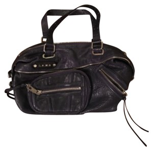 L.A.M.B. Satchel in Navy, Silver, Black