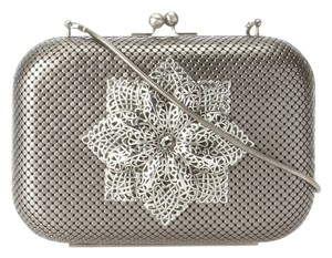 Whiting & Davis Gunmetal Clutch