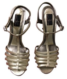 Glint Leather Gold Sandals