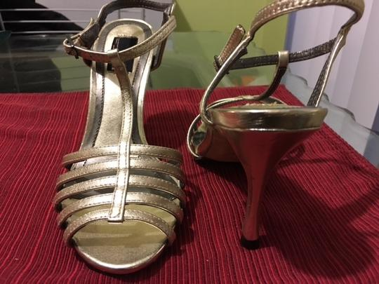 Glint Leather Gold Sandals Image 1