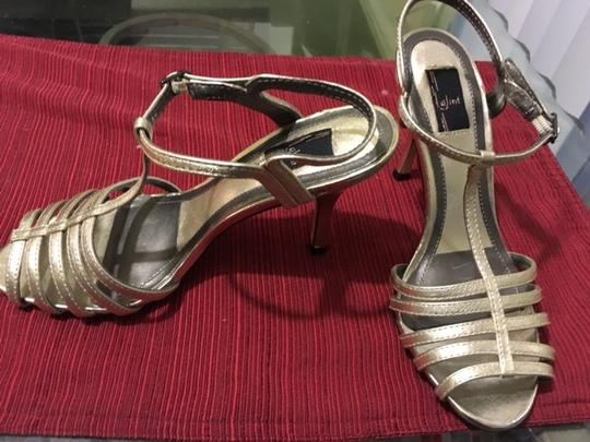 Glint Leather Gold Sandals Image 2