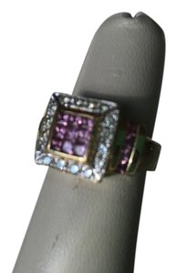 Neiman Marcus 14K GOLD DIAMOND AND PINK SAPPHIRE RING (CAN BE SIZED)