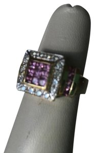Neiman Marcus RING MADE DIAMONDS, PINK SAPPHIRES AND 14 K GOLD