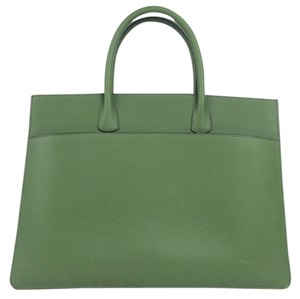 Hermès Leather Work Tote in green