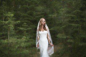 Jennifer Leigh Couture Veils And Accessories Jennifer Leigh Caprice Cathedral Veil In Pronovias Off-white Color