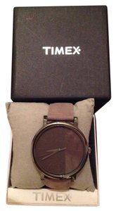 Timex Timex Watch Unisex Classic Taupe /Grey Leather Strap 42mm