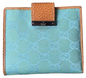 Gucci Turquoise GG monogram Compact Wallet